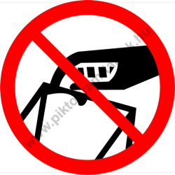 Nem hulladéktároló tiltó piktogram matrica