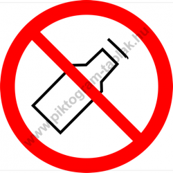 Üveget kidobni tilos tiltó piktogram matrica