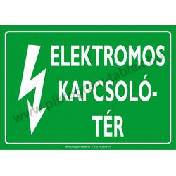 Elektromos kapcsolótér villamossági piktogram tábla