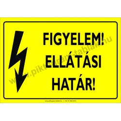 Ellátási határ villamossági piktogram tábla