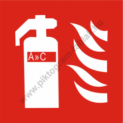 Utánvilágító tűzoltó készülék piktogram tábla