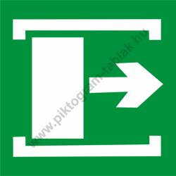 Utánvilágító vészkijárat jobbra piktogram tábla