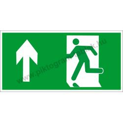 Utánvilágító menekülési út fel piktogram tábla