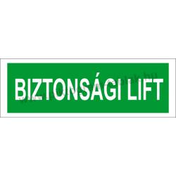 Utánvilágító biztonsági lift piktogram tábla