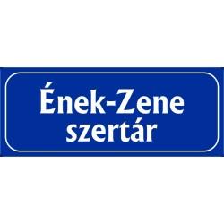 Ének-Zene szertár 25x10 cm