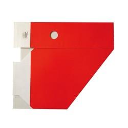 Iratpapucs karton összehajtható pd A/4 10 cm gerinccel karton piros