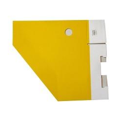Iratpapucs karton összehajtható pd A/4 10 cm gerinccel karton sárga