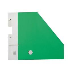 Iratpapucs karton összehajtható pd A/4 10 cm gerinccel karton zöld