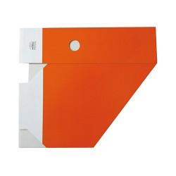 Iratpapucs karton összehajtható pd A/4 10 cm gerinccel karton narancssárga