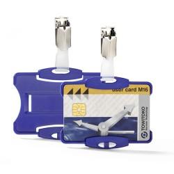 Névkitűző Durable 85x54 mm biztonsági kártyához kék