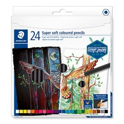 Művészeti színes ceruza Staedtler Design Journey Super Soft 24 db-os klt.