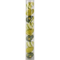 Húsvéti tojásdekoráció zöld/világos zöld 5 cm 9 db/cső
