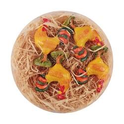 Húsvéti dekor kakas plexitartóban 4 cm 4 db/kosár ( polirezin )