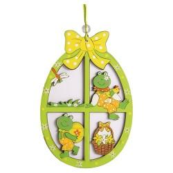 Húsvéti ajtókopogtató fa, tojás zöld