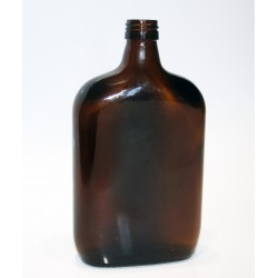 Laposa 0,5 literes barna lapos üveg palack