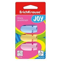 Hegyező ErichKrause Joy 1 lyukú műanyag 3 db-os bliszteres