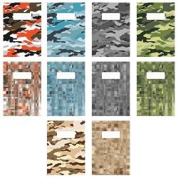 Füzet pd kisalakú 12-32 vonalas Camouflage vegyes