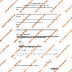 Egészségügyi nyilatkozat 3 lapos garnitúra A/4 álló
