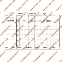 Készletbevételezési bizonylat 10 tételes 25x4 lapos tömb 245x170 mm