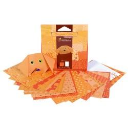 Kreatív origamipapír Clairefonatine Mandarine 12x12 cm 20 lap narancssárga