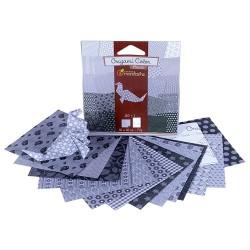Kreatív origamipapír Clairefonatine Mandarine 12x12 cm 20 lap fekete-fehér