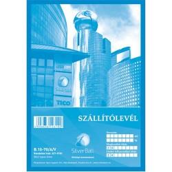 Szállítólevél A/5 50x2 lapos SilverBall