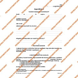 Készletek selejtezési leértékelési jegyzőkönyve A/4 álló