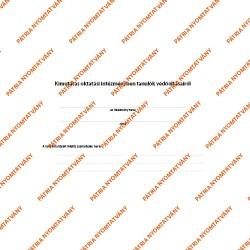 Kimutatás oktatási intézményben tanulók védőoltásairól 50 lapos füzet 295x203 mm