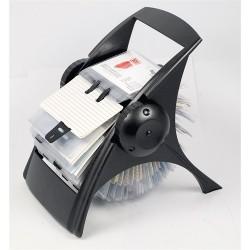 Névjegykártyatartó Ico forgatható asztali 400 db-os fekete