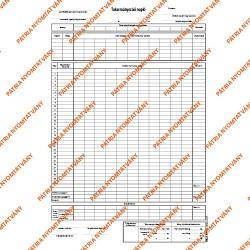 Takarmányozási napló 50x2 lapos tömb 295x410 mm
