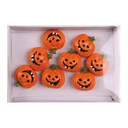 Halloween polirezin tök öntapadós 1,9 cm 8 db/doboz