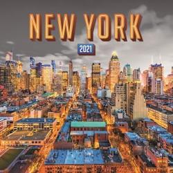 Naptár fali Realsystem 6097 lemez 30x30 cm New York