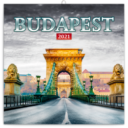 Naptár fali Realsystem 6097 lemez 30x30 cm Budapest