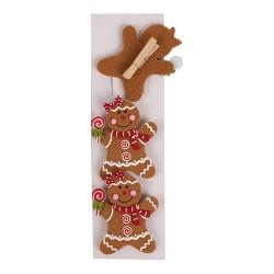 Karácsonyi filc csipesszel 9 cm mézi 3 db/csomag