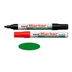 Marker Uni 580B permanent vágott zöld