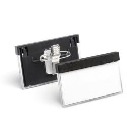 Névkitűző Durable Select 30x60 mm kombi klippel