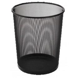 Papírkosár Sakota fémhálós 35 cm fekete DKC1396